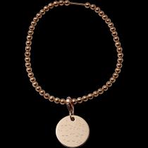 Kugelarmband Silber rosevergoldet 925