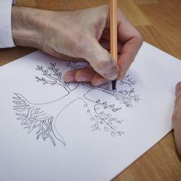 Handzeichnung Lebensbaum